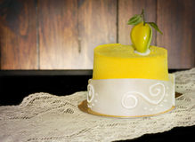 Vibrant yellow dessert Stock Image