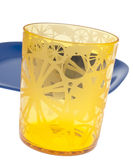 Vibrant Yellow Glass Stock Image