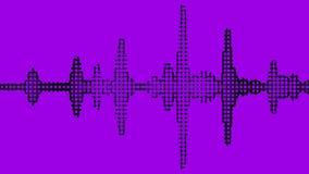 Vibrante granoso del metro del negro audio del espectro en fondo púrpura Fotos de archivo libres de regalías