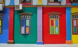 Vibrantly färgade Tan Teng Niah Residence i Singapore Arkivbilder