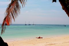 Vibraphone d'île sur la plage en Thaïlande Images stock