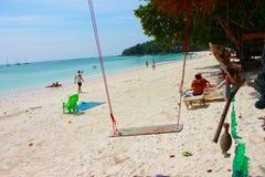 Vibraphone d'île sur la plage en Thaïlande Image stock