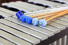 Vibraphone Mallets and Keyboard. Vibraphone keyboard with mallets Royalty Free Stock Image