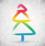 Vibrat koloru abstrakcjonistyczny drzewny tło Fotografia Royalty Free