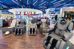 Vibrating armchairs in Siam Paragon mall, Bangkok Royalty Free Stock Photography