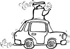 Free Vibrating Car With Boiling Kettle On The Roof Stock Image - 20099621