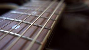 Vibrating strings closeup stock video