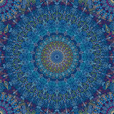 Vibration de Mandala Pattern Blue Photographie stock