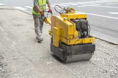Vibration roller compactor Stock Photography