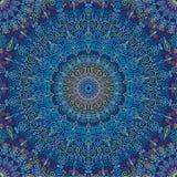 Vibrazione di Mandala Pattern Blue Fotografia Stock