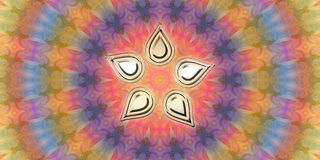 Vibrazioni della mandala dei petali del fiore buone Fotografia Stock