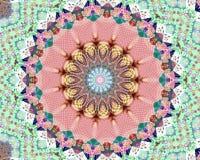 Vibrazioni della mandala del fiore buone Fotografie Stock Libere da Diritti