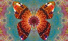 Vibrazioni della mandala di Butterflie buone illustrazione di stock