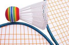 vibrerande badmintonutrustning Arkivfoto