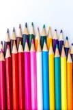 Vibrerande blyertspennor för färgglad konstnärlig bakgrund Arkivfoton