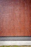 Vibrerande brun tegelstenvägg Fotografering för Bildbyråer