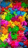 Vibrerande färger plaskar bakgrund Royaltyfria Foton