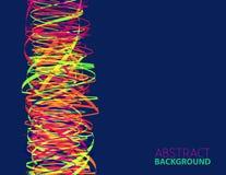 Vibrerande färgkolonn för abstrakt mall Royaltyfria Foton