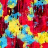 Vibrerande färgrik droppande plaskar abstrakt konst för målarfärg Royaltyfria Foton