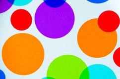 Vibrerande färgrika cirklar fotografering för bildbyråer