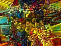 Vibrerande målat glass Royaltyfria Bilder