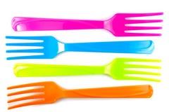 Vibrerande mångfärgade gafflar Fotografering för Bildbyråer