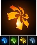 vibrerande pilar 3d Royaltyfria Bilder