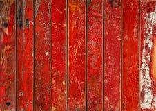 Vibrerande röd träbakgrund royaltyfri bild