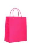 vibrerande rosa shopping för påse Arkivfoto