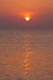 vibrerande solnedgång Fotografering för Bildbyråer