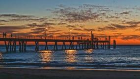 vibrerande solnedgång Royaltyfria Bilder