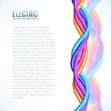 Vibrerande vriden färgplast- kablar bakgrund Royaltyfri Foto