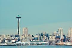 Vibrierend farbiges Bild der Seattle-Raumnadel Lizenzfreies Stockfoto