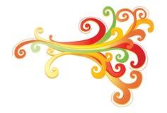 Vibrierende dekorative Auslegung mit curlicues Lizenzfreies Stockfoto