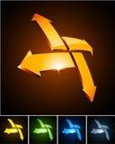 Vibrierende Embleme der Farbe. Stockfotografie