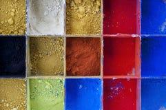 Vibrierende Farbpigmente Lizenzfreie Stockfotos