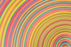 Gummistreifenregenbogenmusteruntere Eckmitte Stockbilder