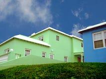 Vibrierende Häuser   Lizenzfreies Stockbild