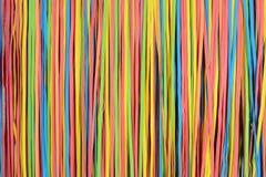 Kleines rubberband streift Muster ab Stockbild