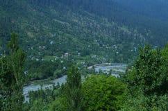 Vibrierende Landschaft nahe Srinagar-3 Stockbilder