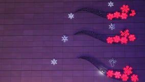 Vibrierende Lichter dekorativ durch Weihnachten stock video