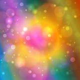 Vibrierender abstrakter Bokeh-Hintergrund Lizenzfreies Stockfoto