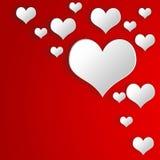 Vibrierender Hintergrund der Illustration am Valentinstag Stockfoto