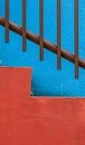 Vibrierendes buntes abstraktes Architekturdetail Stockfoto