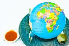 Vibrierendes buntes auf der Welt Lizenzfreies Stockbild