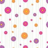 Vibrierendes Gänseblümchen-nahtlose Fliese Lizenzfreie Stockfotos