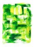 Vibrierendes grünes und gelbes Ölgemälde Stockbild
