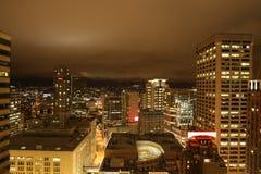 Vibrierendes Seattle im Stadtzentrum gelegen Stockfotografie