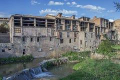 vic Παλαιά πόλη της Καταλωνίας, Ισπανία στοκ εικόνες