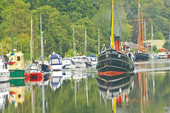 VIC 32 on the Caledonian Canal. Stock Photos